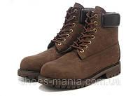 Зимние ботинки Timberland темно-коричневые