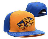Кепка с прямым козырьком Vans Snapback blue-orange