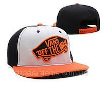 Кепка с прямым козырьком Vans Snapback white-orange-black