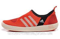 Летние кроссовки Adidas Boat SL красные