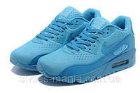 Женские кроссовки Nike Air Max 90 PREMIUM синие, фото 1