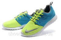 Кроссовки Nike Roshe Run FB Premium green-blue