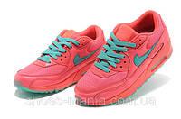 Женские кроссовки Nike Air Max 90 pink-blue, фото 1
