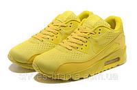 Женские кроссовки Nike Air Max 90 PREMIUM желтые, фото 1