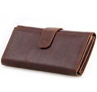 Кожаный кошелек клатч мужской BRAVE