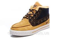 Зимние кроссовки Nike Sweet Classic yellow-brown