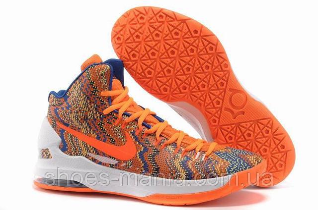 9b643dd2e9b1 Баскетбольные кроссовки Nike Zoom KD V orange-white-blue - Интернет магазин  обуви Shoes