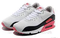 Женские кроссовки Nike Air Max 90 PREMIUM grey-black-red, фото 1