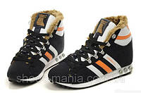Зимние кроссовки Adidas Chewbacca black-white-orange