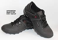 Демисезонные мужские кожаные кроссовки S202