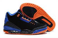 Баскетбольные кроссовки Nike Air Jordan 3 black-orange, фото 1