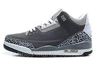 Баскетбольные кроссовки Nike Air Jordan 3 grey, фото 1