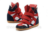 Женские кроссовки Isabel Marant red-white-blue