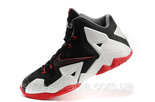 Баскетбольные кроссовки Nike Lebron 11 white-red-black - Интернет магазин  обуви Shoes- 6aec263cf4b