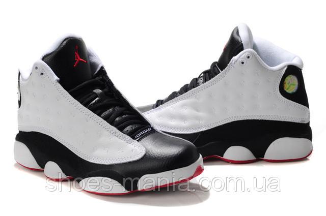 Баскетбольные кроссовки Nike Air Jordan 13 white-black - Интернет магазин  обуви Shoes-Mania b5ea9296cb60d
