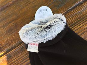 Мужские зимние стрейчевые перчатки + кролик, фото 3