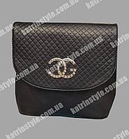 Модная женская сумка чёрного цвета
