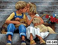 Картина на холсте по номерам VK149  40x30см