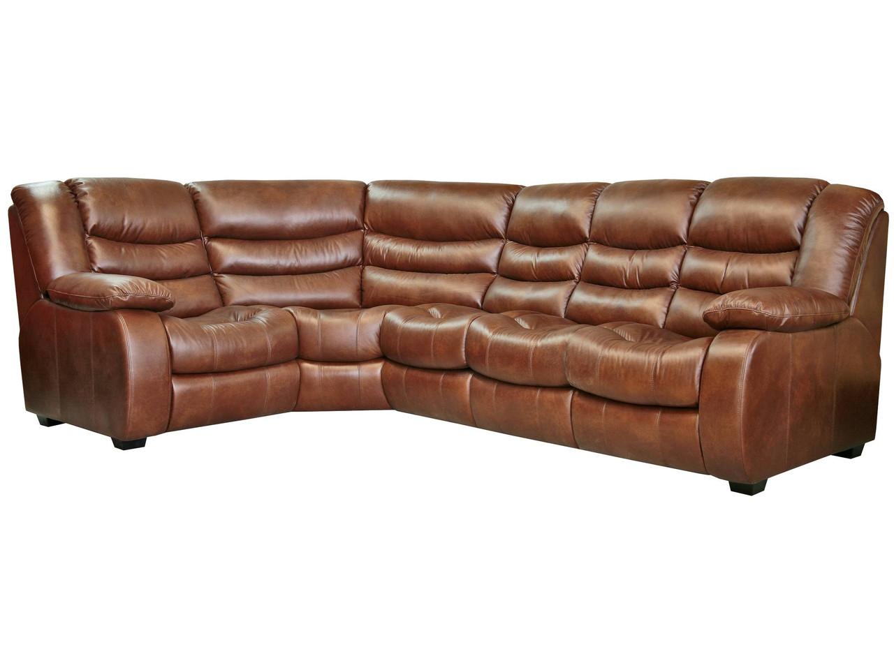 Кожаный диван Манхэттен, не раскладной диван, мягкий диван, мебель из кожи, диван