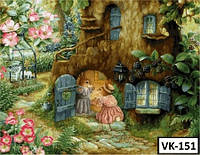 Картина на холсте по номерам VK151  40x30см