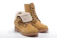 Женские  ботинки Timberland Teddy Fleece (С МЕХОМ) желтые