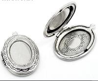 Медальон овальный ,  1шт.  серебро