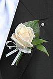Бутоньєрка для нареченого і боярина з живих квітів, фото 2