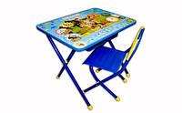 Набор мебели Дэми стол-стул №3 синий Простоквашино