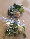 Бутоньєрка для нареченого і боярина з живих квітів, фото 3