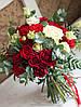 Свадебный  необычный красно-зеленый букет