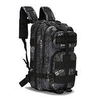 Туристические рюкзаки, 25 л. Рюкзак камуфляжный. Черный, зеленый с листьями, зеленый...