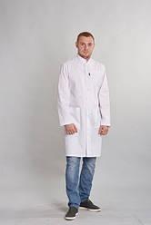 Жіночий медичний халат Філіп коттон,білий р. 44-54