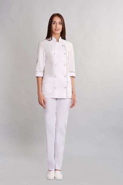Спец одежда костюм шеф-повара женский х-б, разнообразие цветов 40-54