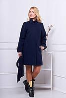 Женское пальто осень весна 516  темно-синий 42-48 размеры