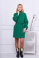 Женское пальто осень весна 516  зеленый 42-48 размеры