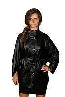Удлиненная куртка с поясом темно-коричневая, черная