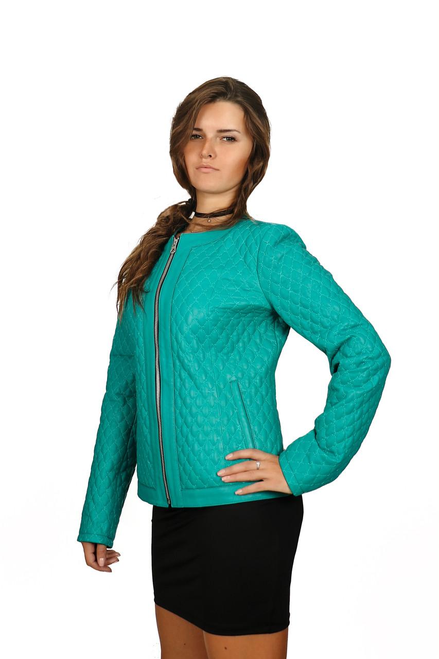 Кожаная куртка Oscar Fur 381 Бирюзовый