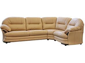 Кожаный угловой диван для гостиной Нью-Йорк, бежевый (308*206см), фото 2