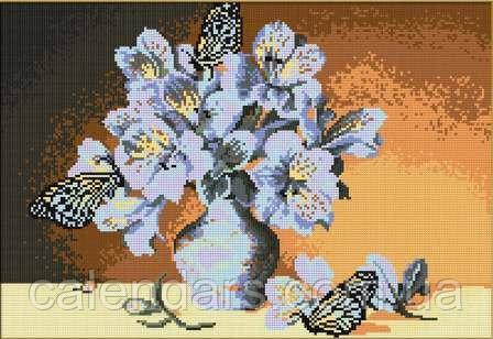 """Набор для вышивания картины """"Цветы и бабочки"""""""