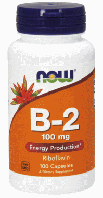 Витамин B-2, Рибофлавин, Now Foods, Vitamin B-2, 100mg,100 caps