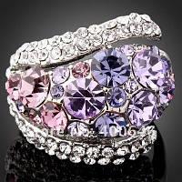 Женское кольцо пурпурное