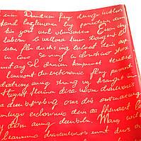 """Тонированная пленка """"Письмо"""" (60 см, 200 г) золотое на красном"""