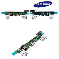 Шлейф для Samsung Galaxy A8 A800, коннектора зарядки, коннектора наушников, микрофона, с компонентами,оригинал