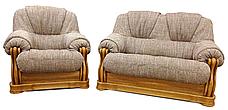Шкіряний комплект меблів Віконт (3н + 1 + 1), м'які меблі, меблі в шкірі, шкіряні меблі, фото 3