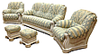 Кожаный комплект мебели Виконт (3н + 1 + 1), мягкая мебель, мебель в коже, кожаная мебель, фото 2