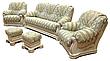 Шкіряний комплект меблів Віконт (3н + 1 + 1), м'які меблі, меблі в шкірі, шкіряні меблі, фото 2
