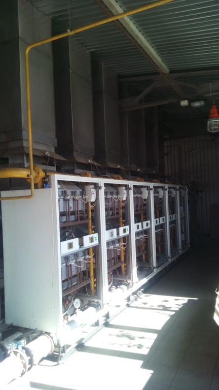 Котли - стійки по 198 кВт. поєднані в каскад