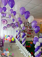 Полуарка с колоннами из воздушных шаров