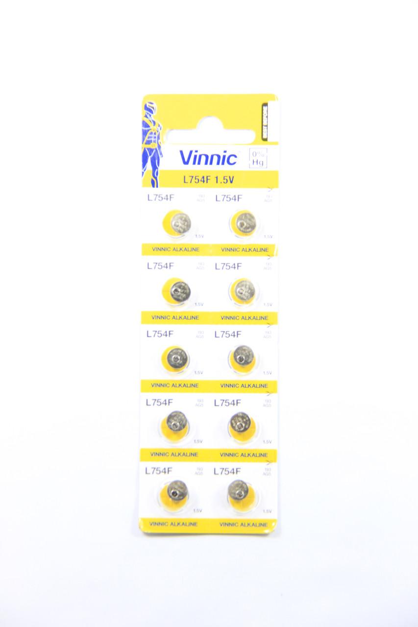 Батарейка часовая Vinnic AG5/ L754F/ LR193
