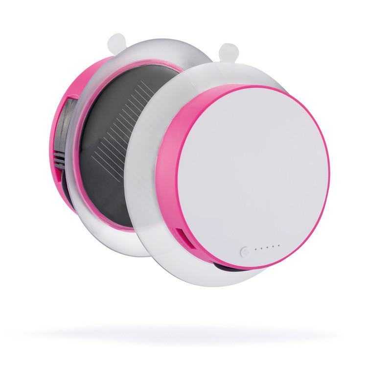"""Солнечное зарядное устройство """"Port"""", розовое"""